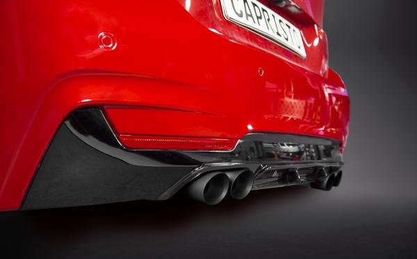 BMW 4 Heckschürzeneinsatz & Diffusor Capristo