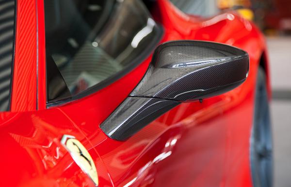 Ferrari 458 Italia Spider Speciale Carbon Spiegel Capristo