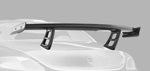 Mercedes AMG SLS Heckflügel Carbon Hamann Motorsport