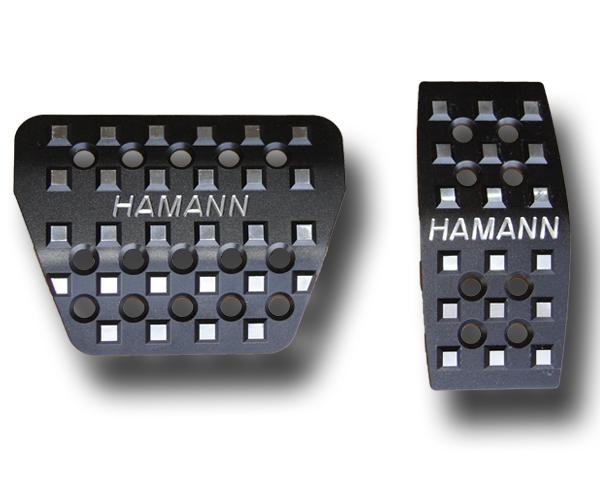 Pedalerie Aluminium schwarz