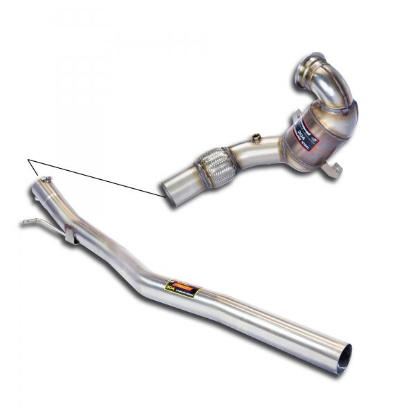 Rohrsatz ab Turbolader mit Sport Metallkatalysator 200 Zellen Supersprint 778041