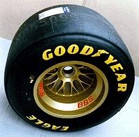 Formel 1 Hinterrad Felge Jaguar BBS (gold)