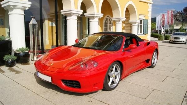 Ferrari 360 Modena Spider Mietfahrzeug