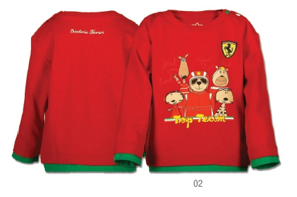 Ferrari Baby T-Shirt Top Team