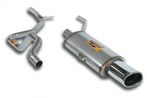 Verbindungsrohr + Endschalldämpfer 120x80 Edelstahl AISI 409
